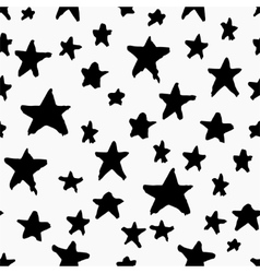 Monochrome seamless pattern with stars vector image