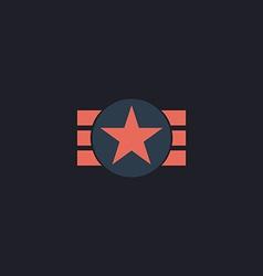 ribbon star computer symbol vector image