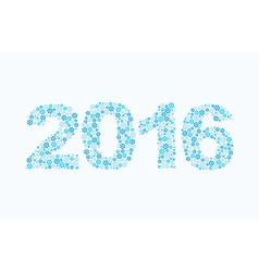 Snowflakes 2016 Figures from snow Figures for new vector image vector image