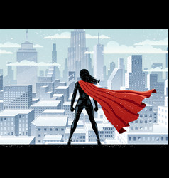 super heroine watch vector image