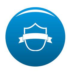 badge modern icon blue vector image