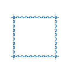 blue chain in shape of square vector image vector image
