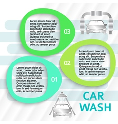 car wash service ads page flyer background vector image
