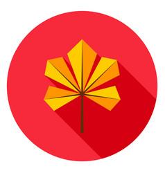 chestnut leaf circle icon vector image