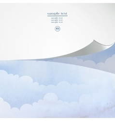 cloud and sky vector image