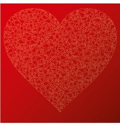 happy valentine background with decorative drops vector image vector image