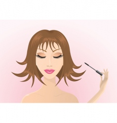long lashes vector image