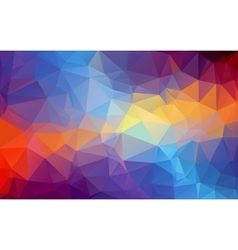 Shades of blue and orange abstract polygonal vector image