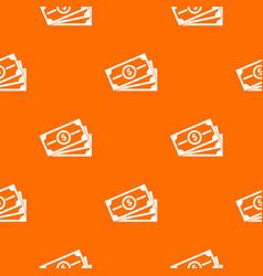 stack of dollar bills pattern seamless vector image vector image