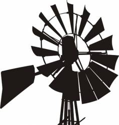 windmill silhouette vector image