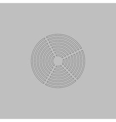Diagram computer symbol vector image vector image