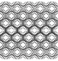 glossy metallic grid with shadow seamless pattern vector image vector image