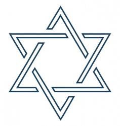 Jewish mage David star design vector image vector image