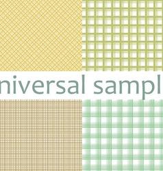 Set from nine original samples vector image vector image