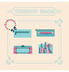 Stylish woman bags and clutches vector image vector image