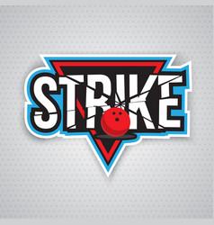 ultimate bowling chanpionship logo design vector image