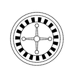 casino wheel icon vector image vector image