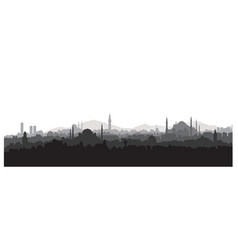 istanbul city skyline travel turkey background vector image vector image