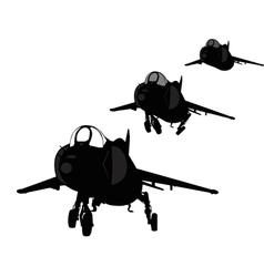 Landing plane silhouette vector image vector image