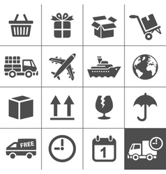 Logistics icons set Simplus series vector image vector image
