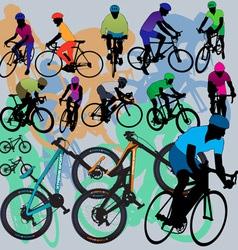 mountain bikes vector image