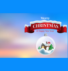 2020 new year card with christmas background vector image