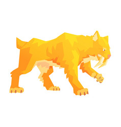 A saber toothed tiger a stone age character vector