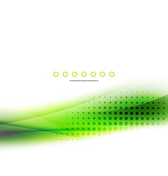 Abstract background green wave business template vector image