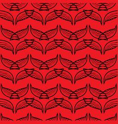 angel wings red sketch pattern vector image