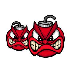 angry bombs vector image