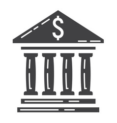 Bank building glyph icon business and finance vector