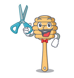 barber honey spoon character cartoon vector image