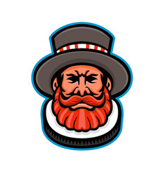 Beefeater or yeoman head mascot vector