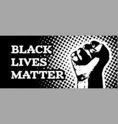 black lives matter with hand vector image