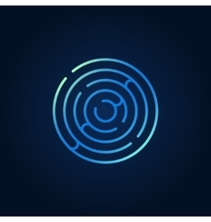 Blue round maze colorful icon vector image