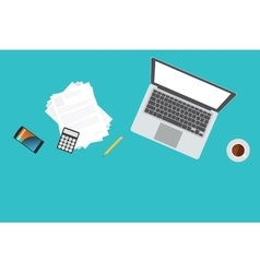 Businessman or freelance workspace vector