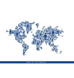 By the people makes up the world map vector