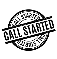 Call Started rubber stamp vector