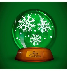 Christmas Snow globe with snowflake vector