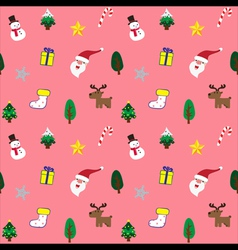 Christmas theme baclground pink seamless pattern vector image