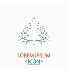 Chritmas spruce computer symbol vector