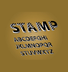 Composite sign stamp chic composite vector