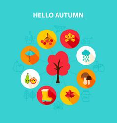 Concept hello autumn vector