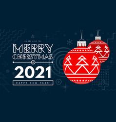 congratulations on new year 2020 and christmas vector image