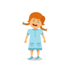 cute little girl crying on a vector image