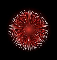 Firework bursting sparkle isolated vector