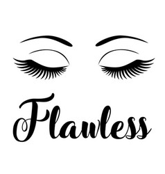 Flawless eyes with long lashes vector