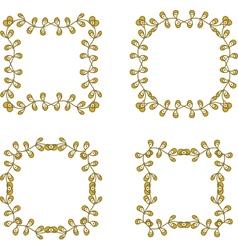 floral branch frames vector image