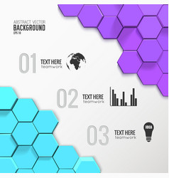 Geometric business infographic concept vector