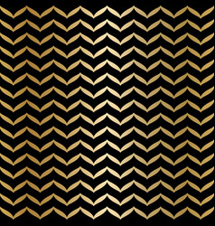 geometric seamless black and gold texture golden vector image